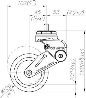 Bánh xe Footmaster GDS 100A-SS